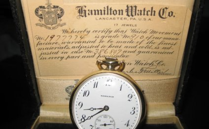 1922 hamilton pocket watch