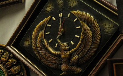 Clock designed with Egyptian