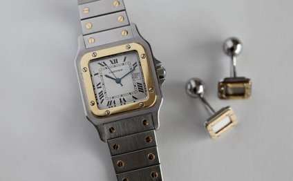 Cartier Santos steel gold