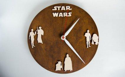 Star Wars gift wood clock