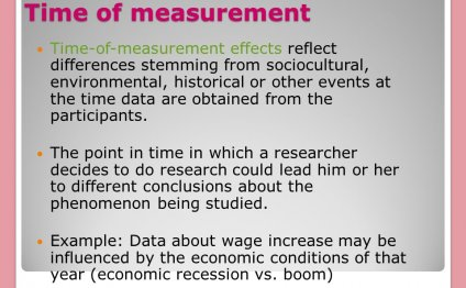 Time of measurement
