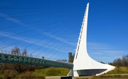 The Sundial Bridge is a one of