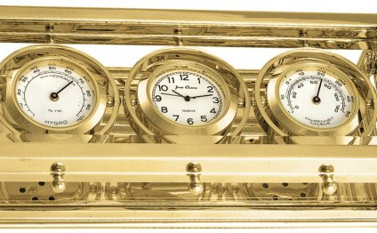 Brass Chronometer Clock