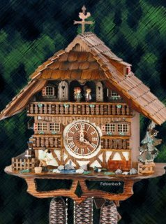 Black Forest style chalet cuckoo clock