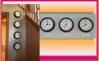 Clocks showing time