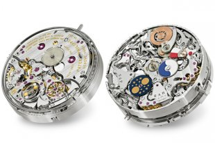 The Grandmaster Chime's two faces,  the time face and the calendar face. Source: Patek Philippe