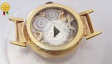 Longines pocket watch movement engraved & skeleton cutted