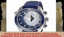 Omega Seamaster Planet Ocean Chronograph Automatic Blue