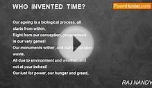 RAJ NANDY - WHO INVENTED TIME?