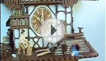 Schneider Cuckoo Clock with Moving Woodchopper and Water Wheel